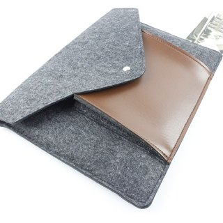 "[Customizable] Original handmade dark gray felt felt sleeve protective sleeve Apple laptop bag 15-inch computer bag MacBook 15.4 ""Pro 15-inch laptop bag (can be tailored) --053"