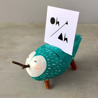 Quirky little ceramic holder for photo / name card / message note