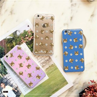Original Pet Mobile Shell x Customized (Pink Violet, Pink Blue, Clear Chrysanthemum) iPhone, Android