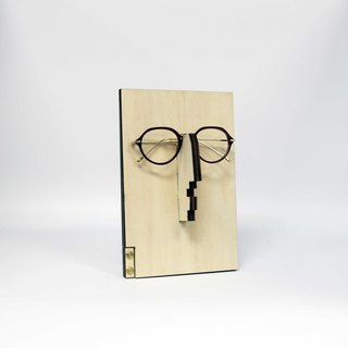 Wooden Eyeglasses Mirror Stand