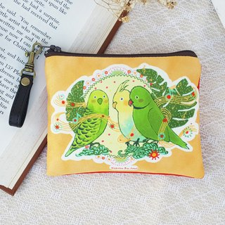 <The secrets of the world> Parrot large wallets admission ticket card illustration