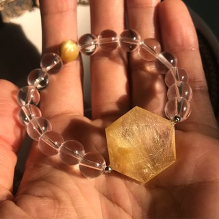 [Lost and find] Kim Yun UP Natural Stone Blonde Crystal Hexagram Crystal Bracelet