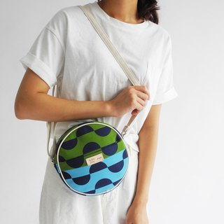 studio chiia - Original Pattern Design Tote-  Half Moon Blue