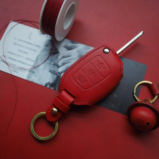Modern side open leather car key set Italy imported vegetable tanned leather handmade leather design customized