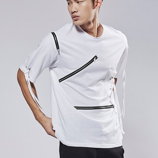 Three zipper modeling shirt # 9009