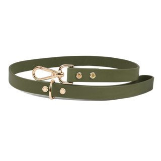 Cittadino Italian vegetable tanned leather leash - olive green