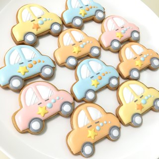 Dabao's toy car icing cookies (stars can be changed name / text) (birthday / wedding / collection)