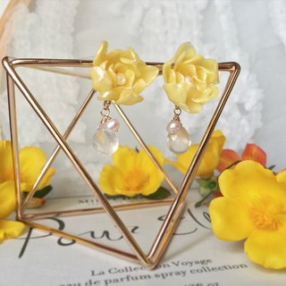 Handmade earrings elegant yellow wood incense