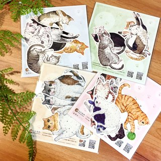 Cat series sticker combination package