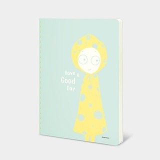 Dorothy 32K color car suture notebook - raincoat Girl (9AAAU0022)