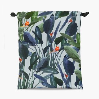 Drawstring Pouch - 束口袋 - Bird of Paradise Pattern V2