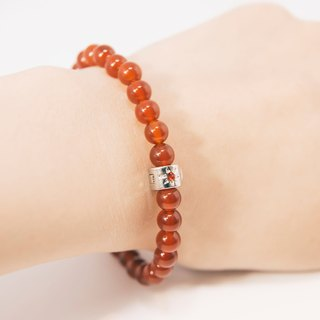 Red Agate 6mm Beads Bracelet Precious Stones Birthday Gift Long Life Stone