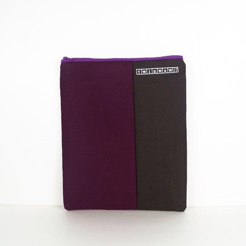 13吋筆電平板文件包 - 深紫鐵灰