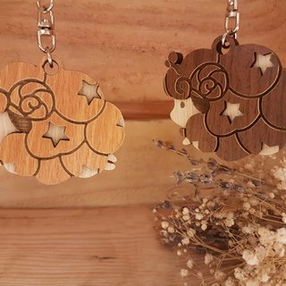 "Taiwan stack ""my zodiac! My life! ""[Customization] Wood carved constellation - Aries gift / key ring"