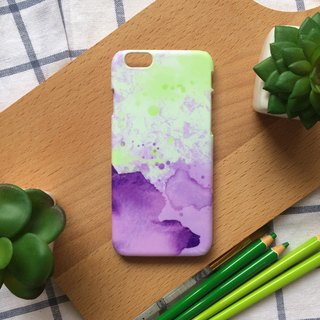 Green and purple warm tone watercolor ink. Matte Case( iPhone, HTC, Samsung, Sony, LG, OPPO)