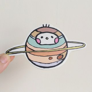 Planet illustration sticker