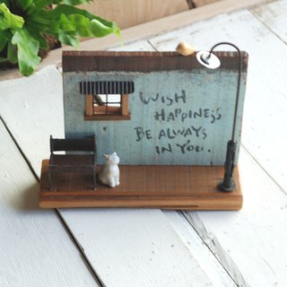 Micro Pocket Scene Table Birthday Decoration / Father's Day. Valentine's Day. Birthday Old Wooden Wind 4