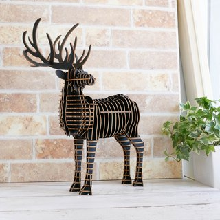 Male Deer 3D Handmade DIY Home Decoration Black