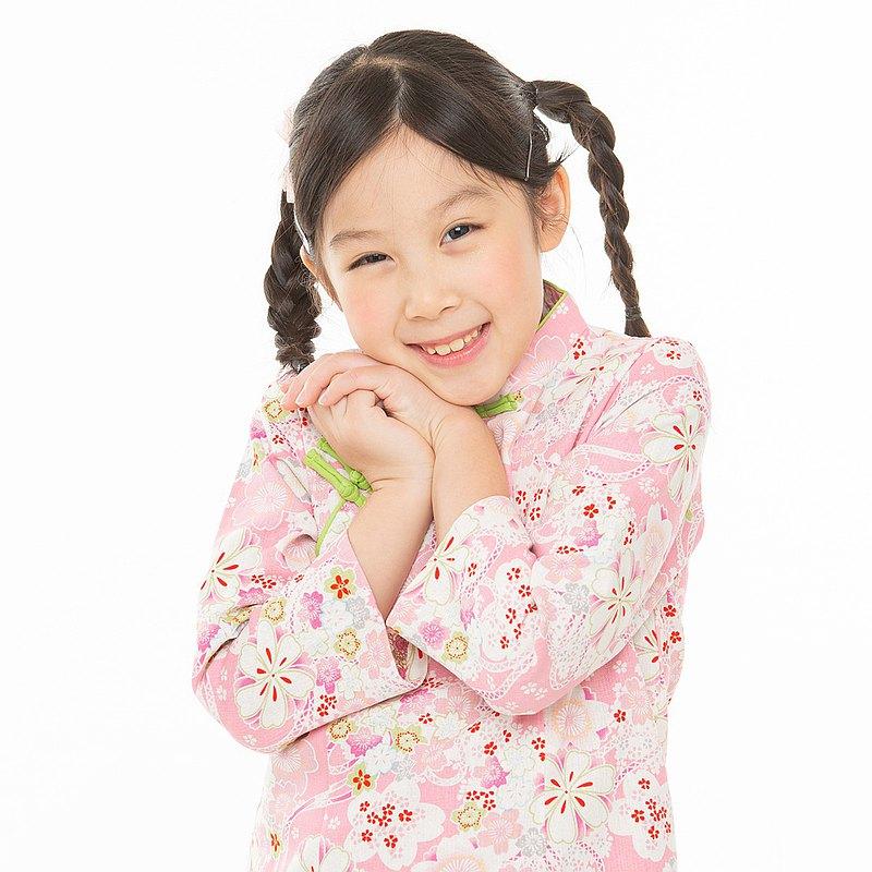 兒童旗袍 古風 七分袖厚款 花柔沁粉