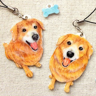 Customized hand-painted pet mobile phone strap body*Single*(Please confirm the time before payment Yo)
