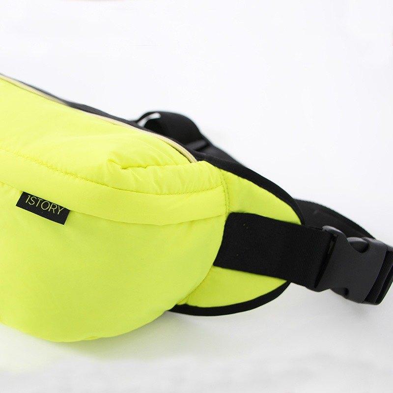 斜背/腰包兩用包.黃╳黑