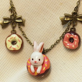 Donut Bunny Necklace Pendant Purchase of 400 Mystery Gifts