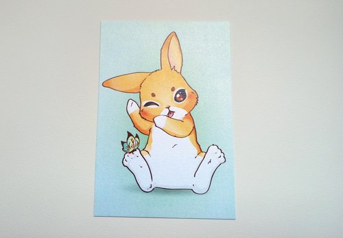 Postcard | Rabbit Daily - Clean White Rabbit