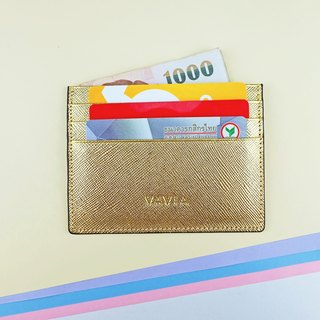 """Gold"" Cow Leather Card Holder"