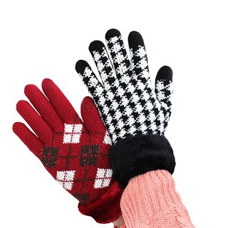 Christmas blessing bag out of print - touch knitted gloves