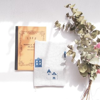 A5 silk printed cotton linen small house LIFE