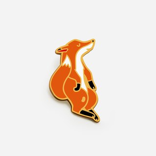 Floating Fox Enamel Pin