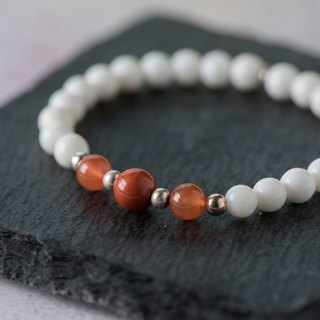砗磲 series. should. Minnan red agate 6mm bracelet.