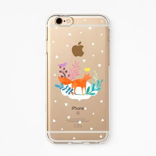 iPhone Rubber Case - Clever Little Fox - for iPhones - Clear Flexible Rubber TPU