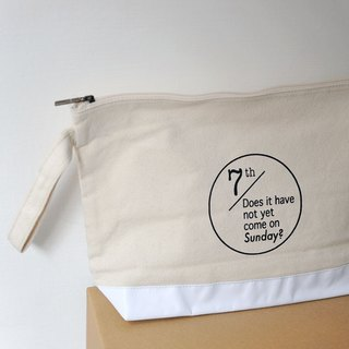 """How do not come on Sunday"" canvas bag / cosmetic bag / storage bag"