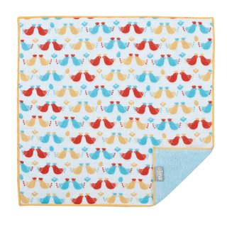 【IMA】WAFUKA Japan made Absorben, Soft, Cute & Unique Handkerchief - Bird