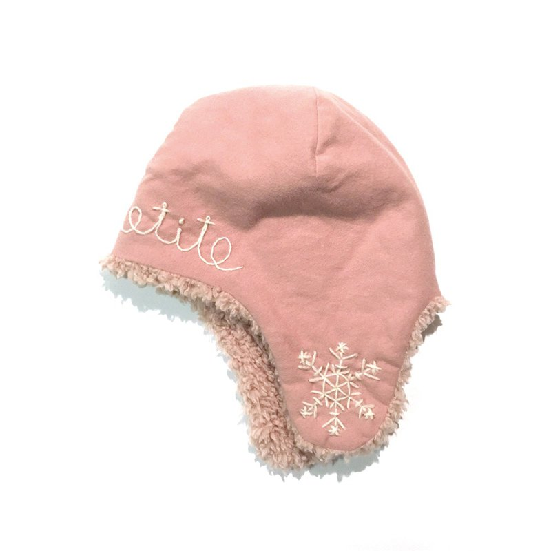 Snowy Baby flight cap    Pink
