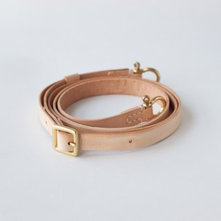 SEANCHY Leather strap with detachable & adjustable brass shackle