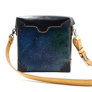 One-shoulder shoulder bag, side backpack, shoulder bag starry sky cloud hand-painted can be customized