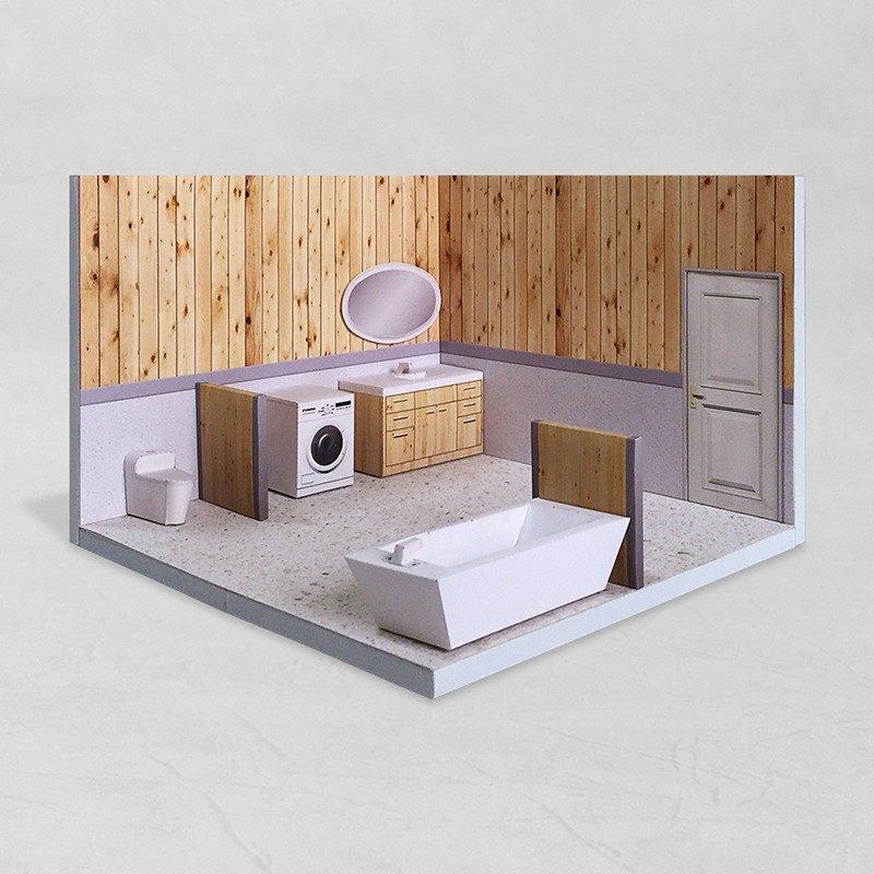 紙模型 - Bathroom #002 - DIY dollhouse paper model