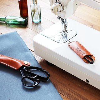 Scissors case set (oil nude leather) 3 colors expansion