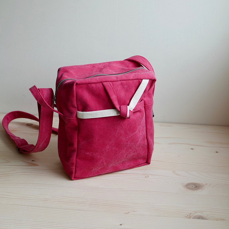 Simple Design / Mu-su-bi Crossbody Bag-A5 Notebook