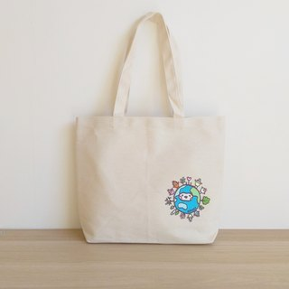 Earth Seed Horizontal Canvas Bag (Small Earth)