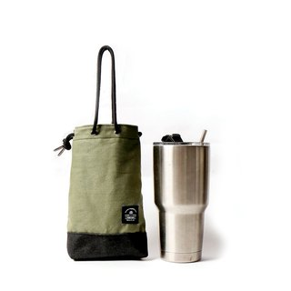 Point bag [icleaXbag] beverage bag simple drink accompanying bag can be lettering apple green