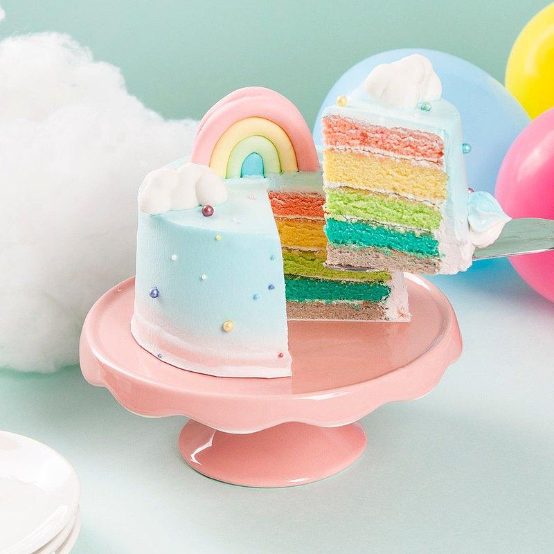 【板橋新板店】彩虹朵朵・蛋糕烘焙DIY ・平板教學・附飲品
