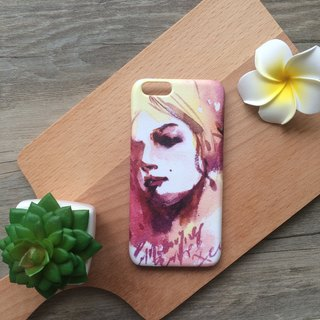 Romance Modern Girl in the sunset illustration. Matte Case (iPhone, HTC, Samsung, Sony)