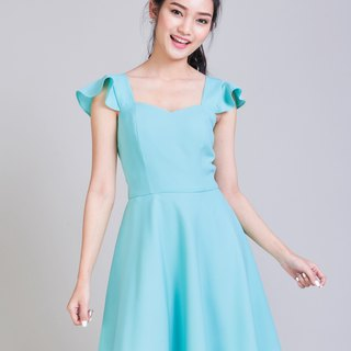 Pastel Blue Dress Party Dress Bridesmaid Dress Prom Dress Feminine Dress