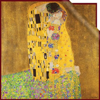 Gustav Klimt 【The Kiss (Lovers)】 Silk Scarf  【Christmas Gift】【Birthday Gift】