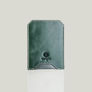 Whiskey Coke - Leather Business Card Holder - Dark Green