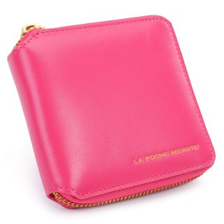 La Poche Secrete Christmas Gifts: Candy Girl's Short Leather Case Folder _ ㄇ-type zipper off _ sweetheart 028