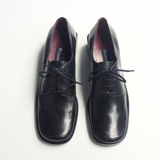 90s 鞋跟好美羊皮德比鞋|Etienne Aigner Square Toe Shoes US 7M EUR 37 -DEADSTOCK